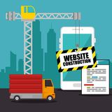 Website under construction background. Vector illustration graphic design Royalty Free Stock Photos