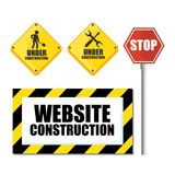 Website under construction background. Vector illustration graphic design Royalty Free Stock Photo
