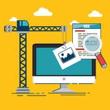 Website under construction background. Vector illustration graphic design Royalty Free Stock Photography