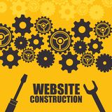 Website under construction background. Vector illustration graphic design Stock Image