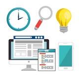 Website under construction background. Vector illustration graphic design Stock Photography