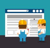 Website under construction background. With workers vector illustration graphic design Royalty Free Stock Photo