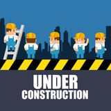 Website under construction background. With workers vector illustration graphic design Stock Image