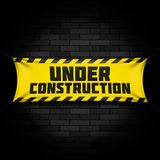 Website under construction banner Stock Images