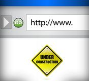 Website under construction browser illustration Royalty Free Stock Photography