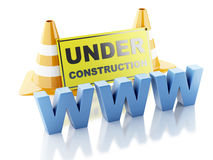 Website under construction concept. 3d illustration Stock Image