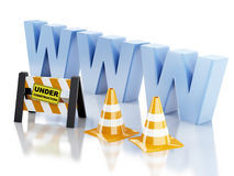 Website under construction concept. 3d illustration Royalty Free Stock Photos