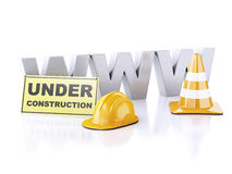 Website under construction concept. 3d illustration Stock Photos