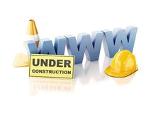 Website under construction concept. 3d illustration Royalty Free Stock Photography