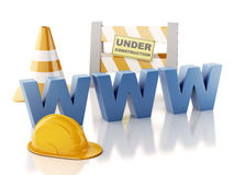 Website under construction concept. 3d illustration Royalty Free Stock Photo
