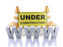 Website under construction concept. 3d illustration Royalty Free Stock Images