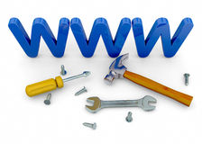 Website Under Construction - 3D Royalty Free Stock Images