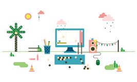 Website Under Construction Graphic Illustration Royalty Free Stock Photos