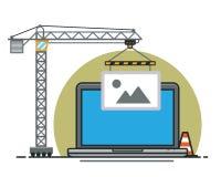 Website under construction  illustration Stock Photography