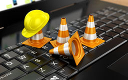 Website under construction. With Laptop Royalty Free Stock Photo