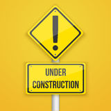 Website Under Construction Road Sign. Coming Soon Background Tem Royalty Free Stock Image