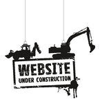 Website under construction sign Stock Images