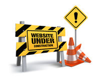 Website Under Construction Sign in White Background Royalty Free Stock Photos