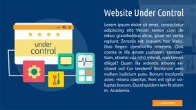 Website Under Control Conceptual Design vector illustration