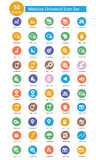 Website Universal icons,Colorful version Stock Photos
