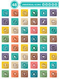 Website, Universele pictogrammen Royalty-vrije Stock Foto's