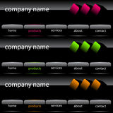 Website user interface Stock Images
