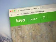 Website van Kiva royalty-vrije stock afbeeldingen