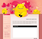 Website vector cartoon characters Royalty Free Stock Images