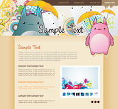 Website vector cartoon characters Royalty Free Stock Photography