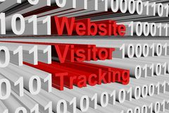 Website visitor tracking Stock Image