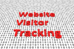 Website visitor tracking Stock Photography
