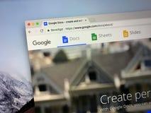 Website von Google Doc. stockbilder