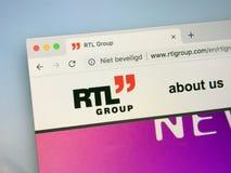 Website von RTL-Gruppe lizenzfreie stockfotos