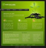 Website voor zaken. groen met groene spruit Royalty-vrije Stock Fotografie