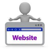 Website Webpage Means Browsing Www And Websites 3d Rendering. Website Webpage Showing Internet Websites And Online 3d Rendering Stock Image