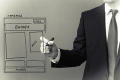 Website wireframe Stockfoto