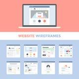 Website Wireframes Lizenzfreies Stockfoto