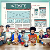 Website WWW Web Browser Connection Network Concept stock image
