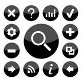 Website zwarte pictogrammen geplaatst voor om het even welk gebruik groot Vector eps10 Stock Fotografie