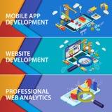 Websiteanalytik sucht Informations- und DatenverarbeitungsDatenanalyse Lizenzfreie Stockfotos