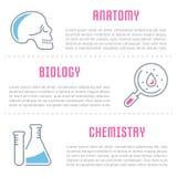 Websitebaner och landningsida av medicin vektor illustrationer
