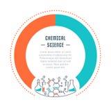 Websitebanner en het Landen Pagina Chemische Wetenschap Royalty-vrije Stock Afbeelding