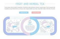 Websitebanner en Landende Pagina van Fruit en Aftreksel Royalty-vrije Stock Fotografie