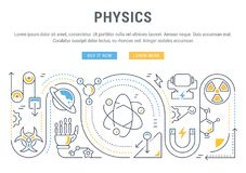 Websitebanner en Landende Pagina van Fysica Stock Afbeelding