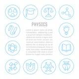 Websitebanner en Landende Pagina van Fysica Stock Foto