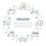 Websitebanner en Landende Pagina van Vervoer Royalty-vrije Stock Fotografie