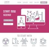 Websitebanner en Landende Pagina van Wetenschap Royalty-vrije Stock Fotografie