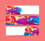 Websitebanners met ruimtelinkerzijde voor bericht Vector Illustratio Royalty-vrije Stock Foto's