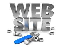 Websitebau Stockfoto