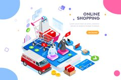 Websitebeställning mobil bekläda app redigerar lätt royaltyfri illustrationer